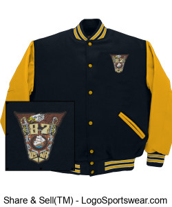 Varsity Jacket with class crest Design Zoom