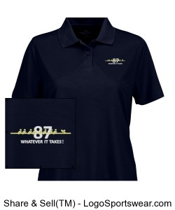 "Navy Crew ""Whatever It Takes"" Ladies Polo Design Zoom"