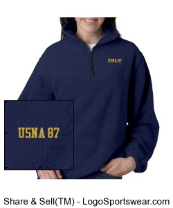 USNA 87 Navy Fleece Design Zoom