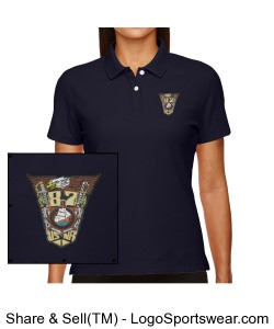 Embroidered Class Crest Ladies polo Design Zoom