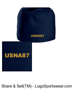 Navy USNA87 Beanie Design Zoom