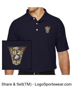 Embroidered Class Crest Mens Polo Design Zoom