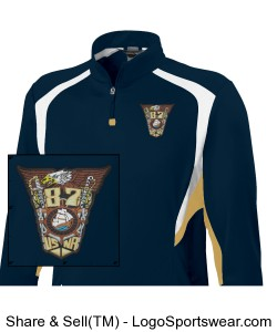 87Crest Pullover (USNA87 on back) Design Zoom